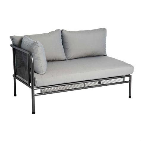 canapé haut de gamme canapé de jardin avec coussins haut de gamme en acier pour