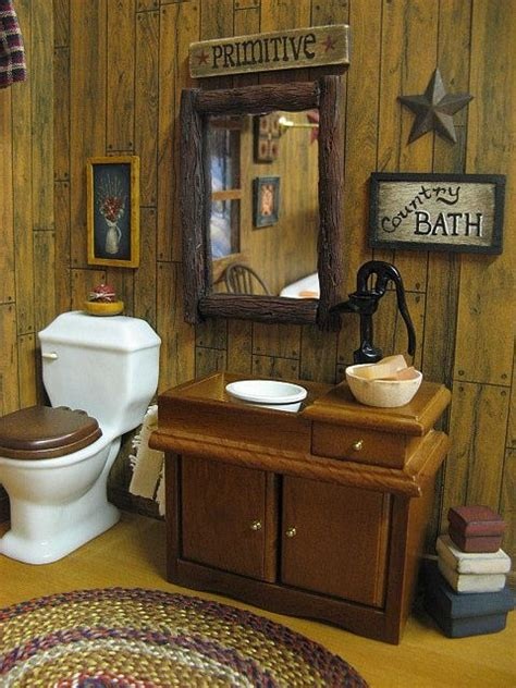 dollhouse country bath primitive primitive bathroom