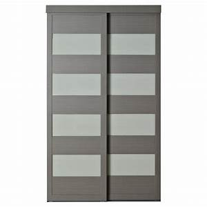 COLONIAL ELEGANCE - Porte coulissante «4-Lite» 48 po x 80