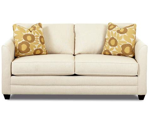 Loveseat Size Sleeper Sofa by Klaussner Tilly Small Sleeper Sofa With Size Mattress