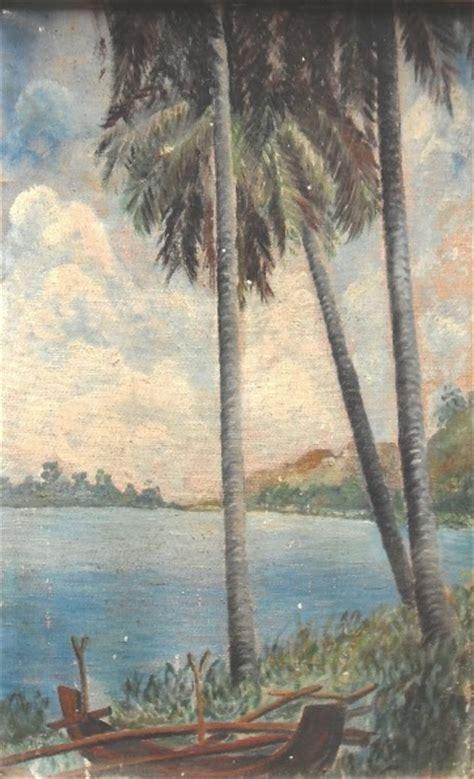 barang antik lukito lukisan  panorama pantai sold