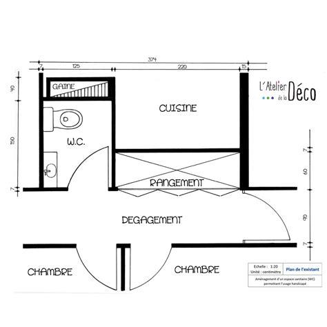 deco cuisine appartement aménagement d un espace sanitaire pour handicapé l 39 atelier de la déco décoration d 39 intérieur