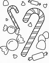Sweets Candy Coloring Pages sketch template