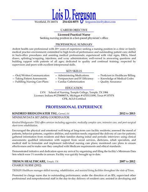 sample resume licensed practical nurse licensed practical nurse seeking nursing position resume