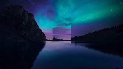 4k Windows Wallpapers Lake Backgrounds Wallpaperaccess Aurora