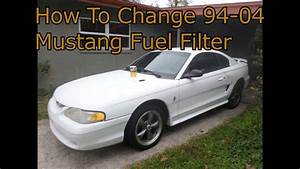 94-04 Mustang Gt  V6 Fuel Filter Change Diy