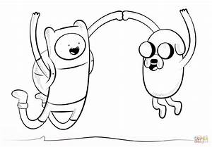 Jake and Finn coloring page | Free Printable Coloring Pages