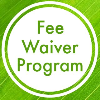 fee waiver program families qualify reduced lunch