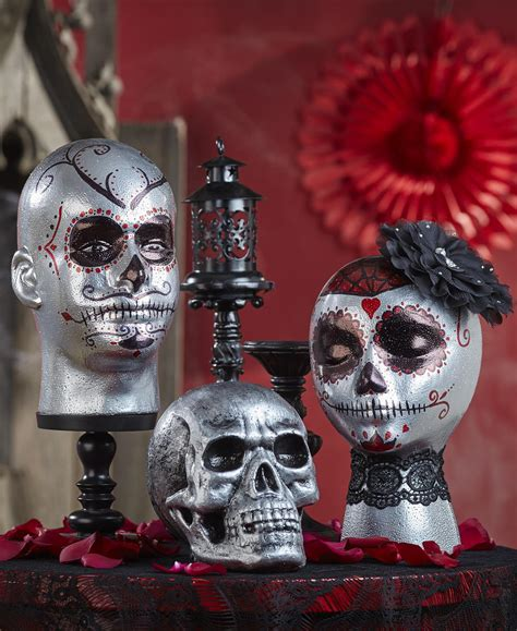 day   dead decorated foam heads