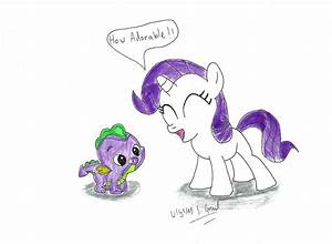 Spike and Filly Rarity by UlyssesGrant on DeviantArt