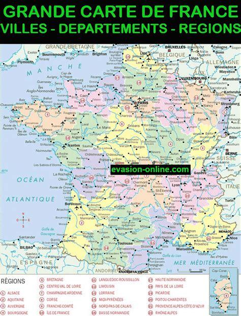 Carte De à Imprimer Avec Villes by Carte De 187 Vacances Arts Guides Voyages