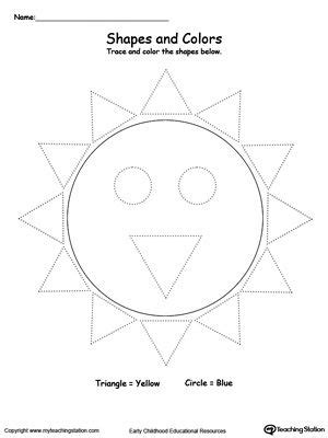 trace shapes    sun  images tracing shapes