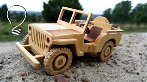 jeep willys wooden toy car youtube