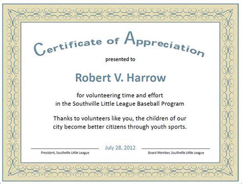 certificate of appreciation template 27 best printable certificate of appreciation templates sle templates