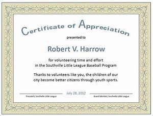 27 best printable certificate of appreciation templates sample templates for Sample of certificate of appreciation