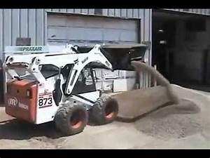 Side Flow Skid Steer Bucket Attachment With Heavy Duty