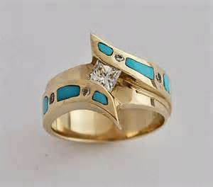 mens wedding ring turquoise wedding ring turquoise engament ring gold and