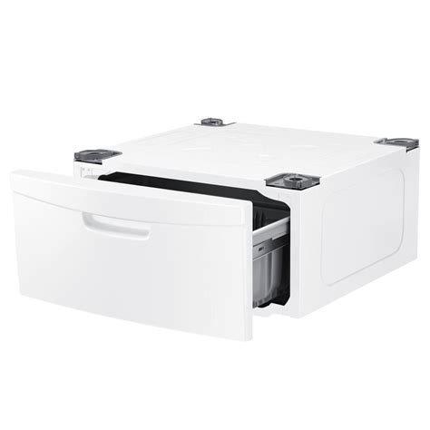 washing machine pedestal samsung laundry pedestal with storage drawer in white