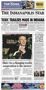 Tony Blair's DePauw Visit Merits Front Page Indianapolis ...