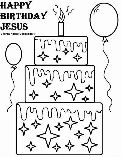 Birthday Happy Jesus Church Coloring Banner Pages
