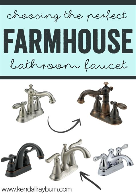 Farmhouse Faucet  Choosing The Perfect Bathroom Faucet