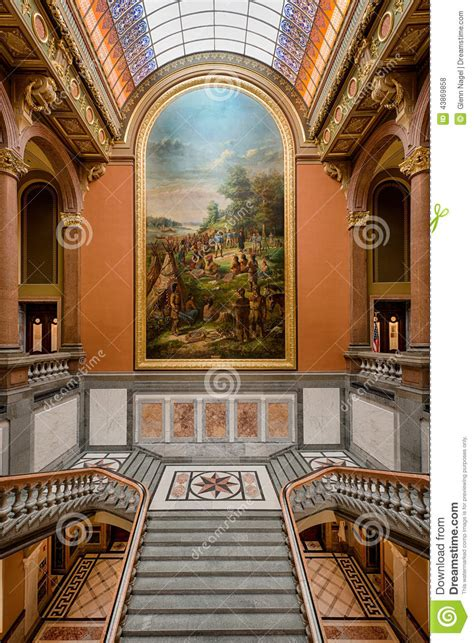 springfield illinois interior of state capitol stock