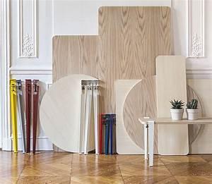 Pied De Table Original : cr ez un meuble une table ou un bureau original gr ce aux pieds tiptoe imaginez votre table ~ Teatrodelosmanantiales.com Idées de Décoration