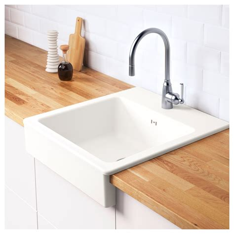 domsj 214 onset sink 1 bowl white 62x66 cm ikea