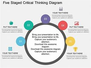 Fh Five Staged Critical Thinking Diagram Flat Powerpoint