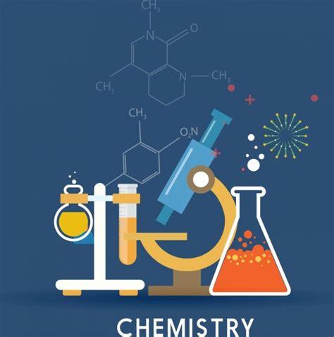 chemistry background lab tools icons molecule formulas