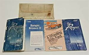 1988 Ford Ranger Owners Manual User Guide S Gt Stx Std Xlt