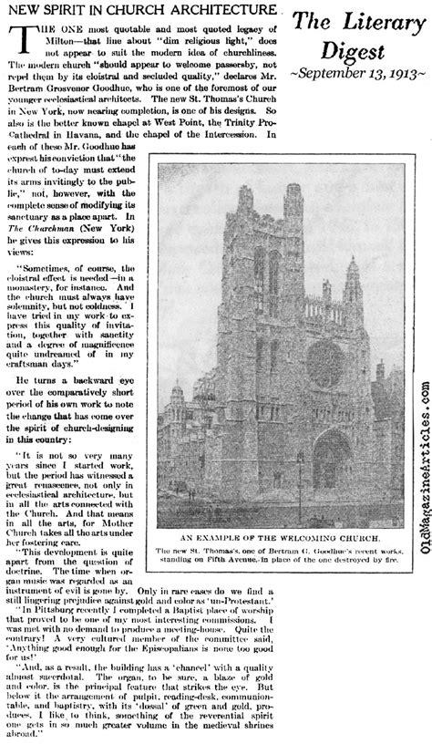 Bertram Goodhue On Church Architecture,bertram Goodhue