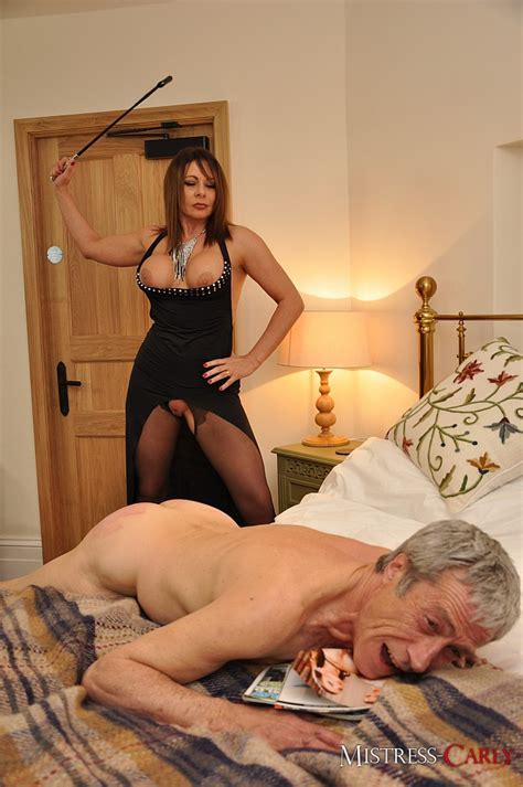Mistress Carly Wears Sexy Clothes And Dominates Her Hubby