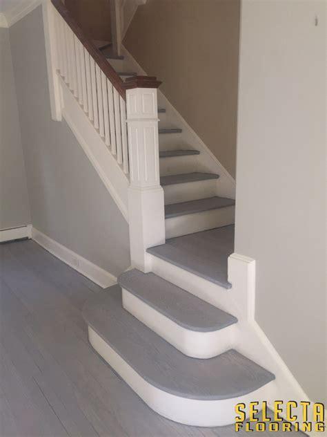 rubio monocoat staircase  ash grey  aqua pre color