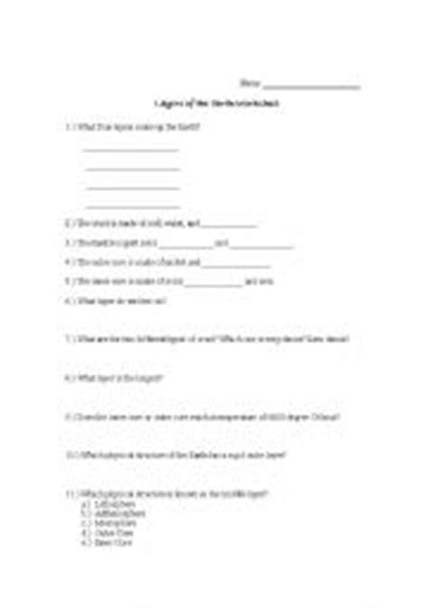 teaching worksheets the earth