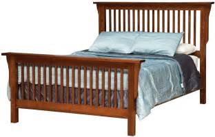 california king mission style frame bed with headboard footboard slat detail by daniel 39 s amish