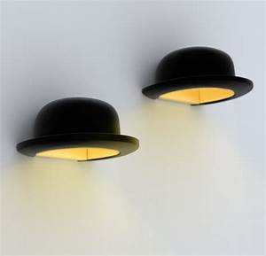 Applique Murale Dorée : applique murale chapeau jeeves noir 25cm h13cm innermost luminaires nedgis ~ Teatrodelosmanantiales.com Idées de Décoration