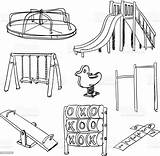Playground Equipment Clip Vector Zabaw Istock Illustrations Activity Plac Placu Only Istockphoto sketch template