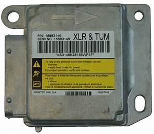2009 Cadillac Xlr Air Bag Module Ecu Diagnostic Unit  Xlr   Tum  New 15883146