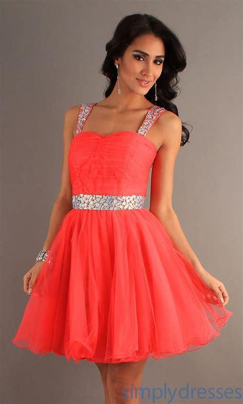 Bright Peach Prom Dresses 2014