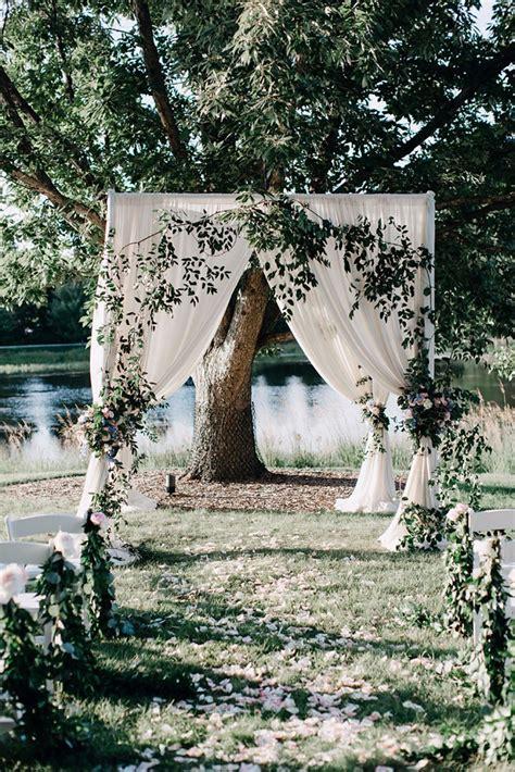 Romantic Pastel Garden Wedding Wedding Ceremony