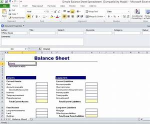 simple balance sheet template for excel With accounting software requirements document