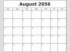 June 2056 Free Calendar Template
