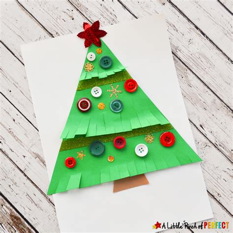 as cute as a button christmas tree craft for kids