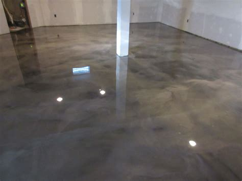 Epoxy Floor Basement Remodel Metallic Marble