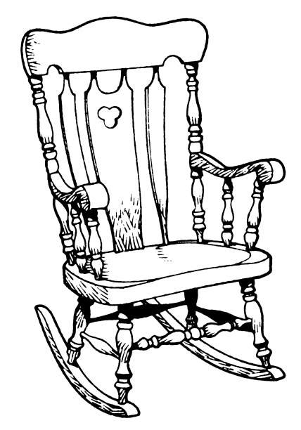 rocking chair illustrations royalty  vector