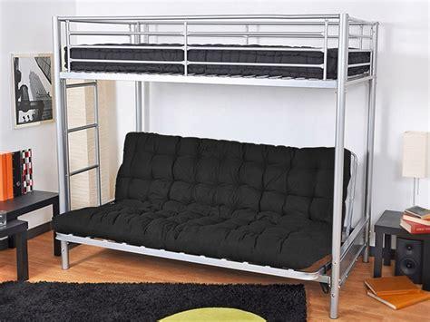 lit mezzanine avec canape lit superpos en mtal avec canap