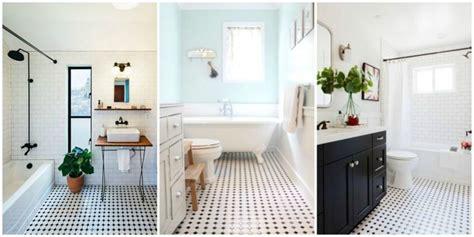 white tile bathroom 重新風霏市場的復古風浴室黑白磁磚裝潢靈感推薦 什麼鳥玩佈置 享生活 居家生活靈感誌