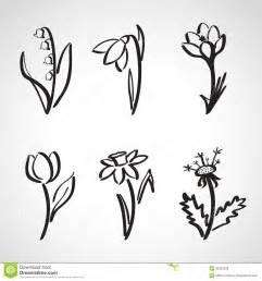 Simple Spring Flower Drawings