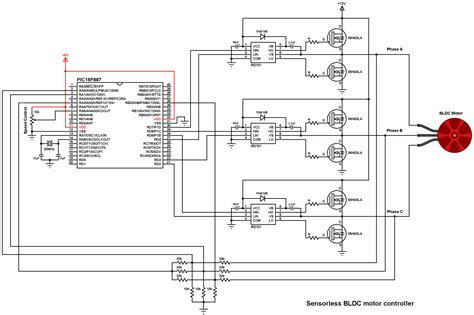 brushless dc motor control with pic16f887 microcontroller